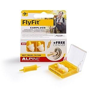 Alpine FlyFit – Ohrstöpsel für den Druckausgleich beim Fliegen, Gratis Cleaner