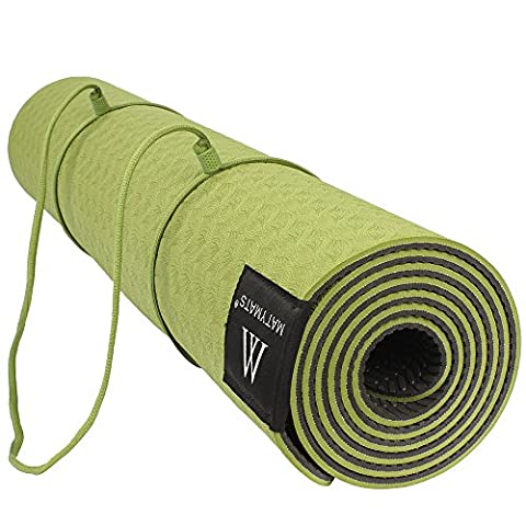 Goture Anti-Rutsch-TPE Yogamatte mit Tragegurt für Hot Yoga Pilates Gymnastik Bikram Meditation Handtuch- Hohe Dichte Thick 1/4 '' Durable Mat 72''24 '' Eco Safe Non Toxic
