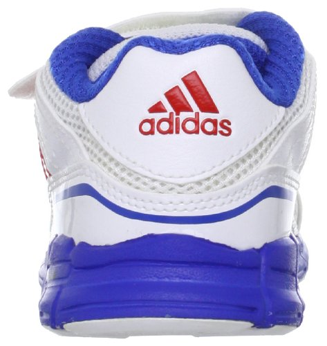 adidas Performance adifast CF I Q23369 Unisex-Baby Lauflernschuhe Weiß (RUNNING WHITE FTW / VIVID RED S13 / SATELLITE)