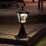 Borne Lumineuse Solaire Extérieure - Éclairage de Jardin Waterproof 6 LED Blanc Chaud - 42cm
