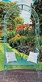 Buri Rosenbogen mit Gartenbank Eisen Antik-Grün Höhe 230 cm Rankhilfe Pergola Spalier
