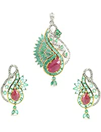 Emeralds Bazar New Arrivals !! 925 Sterling Silver Baguette & Marquise Shape Stone 5.6 Ct Emerald Natural Emerald...