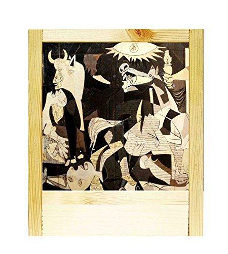 Lámpara de madera natural Picasso-Guernica