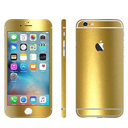 IPHONE 6 / 6S GOLD METALLIC MATT FOLIE SKIN ZUM AUFKLEBEN bumper case cover schutzhülle i phone (Iphone 4 Gold Aufkleber Skin)