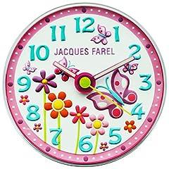 Idea Regalo - Jacques Farel wal01Butterfly–Farfalla cameretta dei bambini silenzioso Orologio da parete Ragazza Bambini orologio da parete geraeuscharm plastica analogico