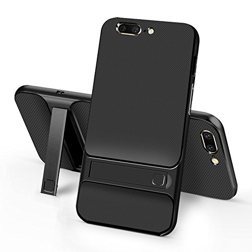 Sanchar's For 2in1 Kick Stand Shockproof Dual Layer Back Case Cover For Oneplus 5 / One plus 5 / 1+5 Case cover (black)