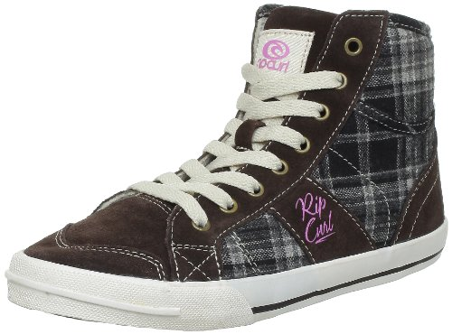 Rip Curl - Sneaker TWLJ01_Marron (Coffee/Check) Donna, Marrone (Braun (Coffee/Check)), 38