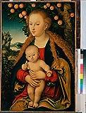 Das Museum Outlet–Cranach, Lucas, I–Jungfrau und Kind unter einem Apfelbaum–Leinwanddruck Online kaufen (101,6x 127cm)