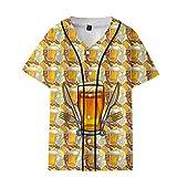 Oktoberfest T-Shirt Herren Oberteil Piebo Fun T-Shirt Beer Print Bierfest Kostüm Tops Shirt Pulli Tank Top Männer Kurzarm Shirt Lässige Graphics Tees Sport Fitness Slim Fit Hemd Kurzen Ärmels Tops