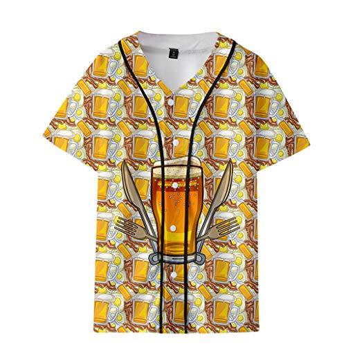 Oktoberfest T-Shirt Herren Oberteil Piebo Fun T-Shirt Beer Print Bierfest Kostüm Tops Shirt Pulli Tank Top Männer Kurzarm Shirt Lässige Graphics Tees Sport Fitness Slim Fit Hemd Kurzen Ärmels Tops (Kostüme Oktoberfest Billig)