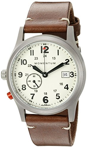 Momentum Mens Analogue Classic Quartz Watch with Leather Strap 1M-SP60L2C