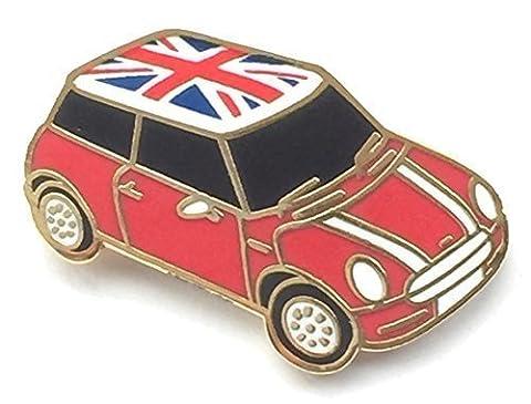Voiture Mini Cooper Badge Pin's (épinglette) Drapeau anglais à toit en vinyle