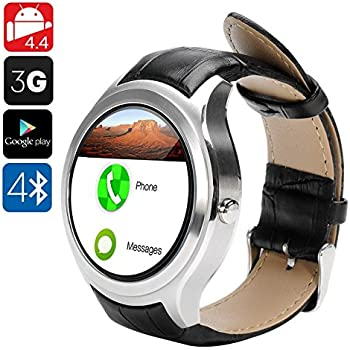 NO.1 D5 Android Smart Watch - 3G SIM, Bluetooth 4.0, Wi-Fi, Google Play, Pedometer, Heart Rate, GPS, Barometer (Silver) by DMYY