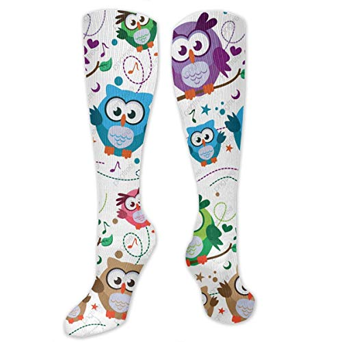 yester Cotton Over Knee Leg High Socks Personalized Unisex Thigh Strumpfs Cosplay Boot Long Tube Socks for Sports Gym Yoga Hiking Cycling Running Nurses ()