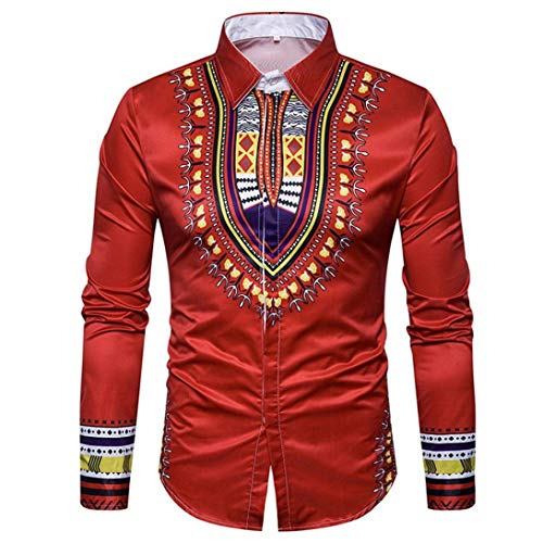 TWBB Herren Afrikanischer Printing CardiganShirt Sweatshirt Pullover Schlank Langarmshirt Oberteile Blusen Longsleeve