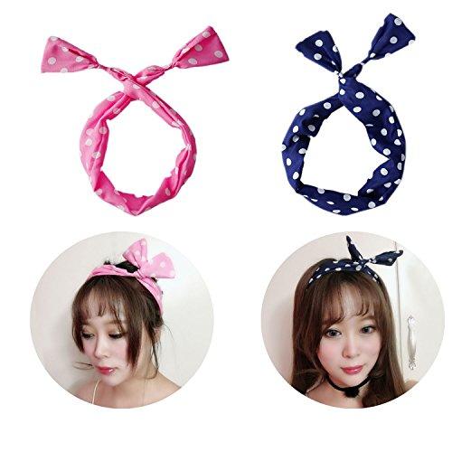 2 Pièces Bandeau Élastique Cravates pour Cheveux pour Femmes Et Filles