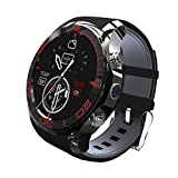 Bluetooth Smart Watch SIM-Karte geschlitzt Water Proof Smartwatch Telefon mit Pulsmesser Handgelenk-Sync-Telefon Android Smartphone Sport Schrittzähler (black)