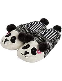 d79a2085005d8 Tofern Unisexe Famille Chaussons Panda antidérapant Coton EVA éponge Chaud  Automne-Hiver Pantoufles Souple léger Confortable,…