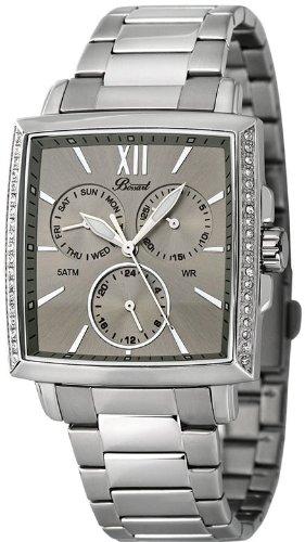 Bossart Watch Co. Square-Glam BW-1101-CH-BRC Armbanduhr für Sie Mit Kristallsteinen