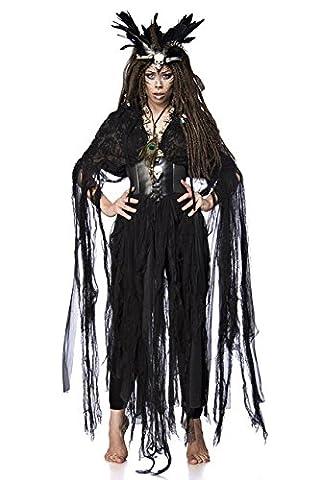 5 tlg. Vodoo Hexe Witch Voodoo Kostüm Damenkostüm Hexenkostüm Orleans Zauber Set (Gothic Hexe Kostüme Erwachsene)