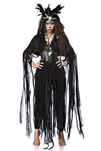 5 tlg. Vodoo Hexe Witch Voodoo Kostüm Damenkostüm Hexenkostüm Orleans Zauber Set