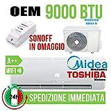 Givimusic CONDIZIONATORE CLIMATIZZATORE OEM NBSJ-09 9000 BTU A Motore Toshiba WiFi