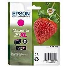 Epson Claria No.29 Home Strawberry Ink Cartridge X-Large High Capacity, Magneta, Genuine, Amazon Dash Replenishment Ready