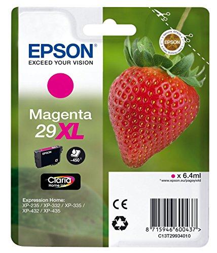 Epson-magenta-inkjet-drucker Patrone (Epson Original T2993 Erdbeere, Claria Home Tinte, Text- und Fotodruck XL (Singlepack) magenta)