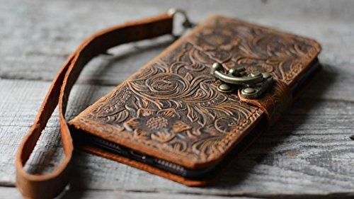 """Preisvergleich Produktbild handgemachte echtes Leder-Mappenkasten für Samsung Galaxy note 8 6.3"""" Flip-Cover Flip Case mit Kreditkarte -Schlitz mit Wristlet"""
