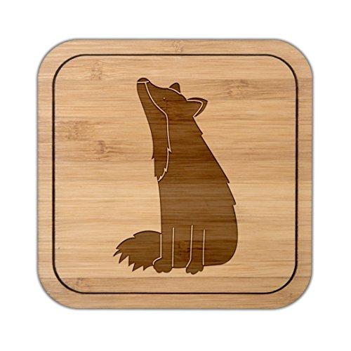 Mr. & Mrs. Panda Geschenke, eckig, Untersetzer quadratisch Fuchs Sterngucker - Farbe