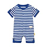 Steiff Baby-Jungen Strampler, Blau (Surf In The Web 6002), 80