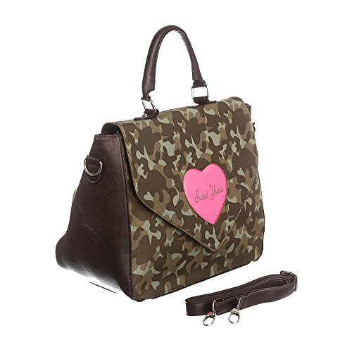 Sweet Years Borsa Donna - Mod. 2442 QUEEN Mimetico – Fucsia