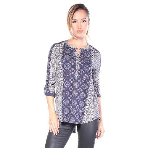 lucky-brand-etched-geo-bluse-blouse-xs-damen