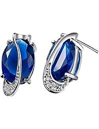 JewelleryClub 925 Silver Swarovski Elements Crystal Egg Shaped Stud Earrings for Women