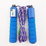 WJkuku cuerda de saltar para niños con mango cómodo, cuerdas infantiles para hacer ejercicios, Crossfit, boxeo, entrenamiento y Fitness, mejores juguetes para regalos para niños y niñas edad 5A 12años,, azul