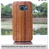 Samsung Galaxy S6 Edge Plus Wooden Case Cover CoCo@100% Unique Genuine Handmade Natural Wood Wooden Hard Bamboo Shockproof Case Like as Artwork for your loved Samsung Galaxy S6 Edge Plus (Zebra Wood)