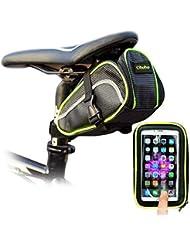 Ohuhu® Sac/Sacoche/Pochette de Selle Vélo& Sac de Téléphone Etanche avec Support pour VTT, Cyclisme, Randonnée de vélo etc