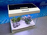 Aquaristikwelt24 AT-350 A Nano Aquarium Touch Display Filteranlage Beleuchtung Nanoaquarium Komplettaquarium Set Deko