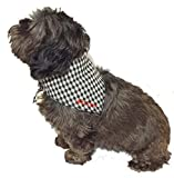 Spoilt Rotten Pets Hundehalstuch, Gingham-Karomuster, schwarz Bandana (klein/mittel für Hunde Größe 30,5cm bis 40,6cm Hals)