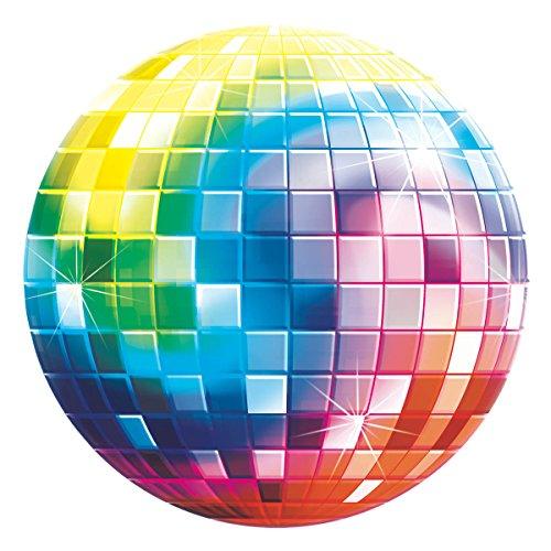 Amscan 19017226cm 70er Jahre Disco Fever Glitzer Kugel Karte Cut Out