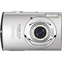 """Canon IXUS 860 IS Digital Camera - Silver (8.0MP, 3.8x Optical Zoom) 3.0"""" LCD"""