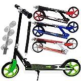 Kesser Scooter Roller Kinderroller Cityroller Tretroller Kickroller Kickscooter, Design/Farbe:Spider (Green)
