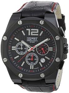 Reloj Esprit ES102541004 de cuarzo para hombre con correa de piel, color negro de Esprit