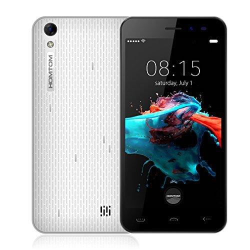 HOMTOM HT16 (2016) 3G Dual SIM Quad Core Android 6.0 Smartphone (5.0 Zoll, HD 1280*720 pixels, 8GB ROM+1GB RAM) (Weiß)