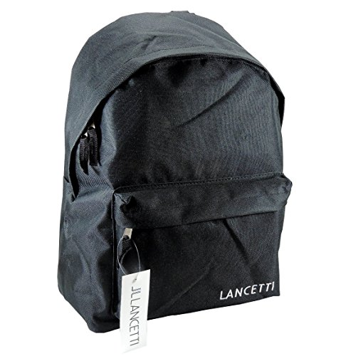 lancetti-rucksack-herren-damen-free-time-tasche-rucksack-schule-meer-ausfluge-wandern-pic-nic-schwar