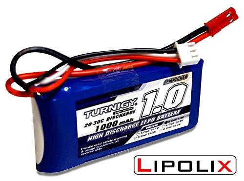 Preisvergleich Produktbild Lipolix Premium Akku Turnigy 1000mAh Lipo Akku 2S 7,4V 20-30C Lipoakku für Parkflyer, Autos und vieles mehr! Qualitätsgeprüft von Lipolix | Modellbauakku Flugakku