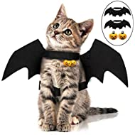 Rorchio 2 Pack Halloween Pet Bat Wings Cat Dog Bat Costume Halloween Pet Costumes Accessories for Small Dogs and Cats