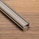 LED Profil-11 Edelstahloptik 2000 x 14 x 7 mm mit klarer Abdeckung für LED Streifen Aluminiumprofil Stripes von SO-TECH®