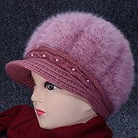 Wenxin0815 Winter Geriatrische Hut Und Mütze Gestrickt Mutter Hat