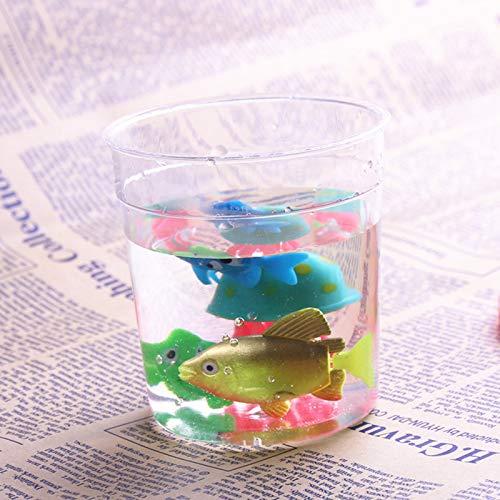 Bureze Taza Betta plástico Transparente pequeña